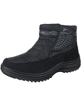 Winter-/Schneestiefel Herren Schuhe Warm Gefütterte Klettverschluss Ital-Design Stiefel