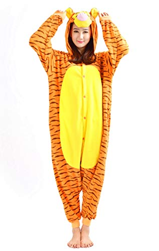 jama Cosplay Kostüme Schlafanzug Erwachsene Unisex Animal Tieroutfit tierkostüme Jumpsuit Tiger(Größe XL) ()