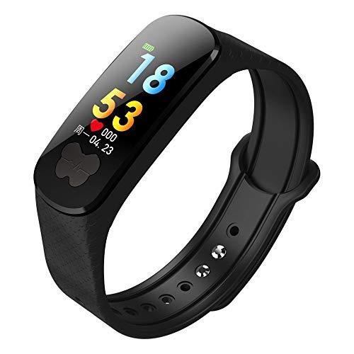 AIJIE Smart Watch, EKG + PPG IPS Smart Watch IP67 Wasserdichtes Stepper-Herzfrequenz-Blutdruckmessgerät Armband Fitnessgürtel, geeignet für Ios und Android Damen, Herren, Senioren,Black