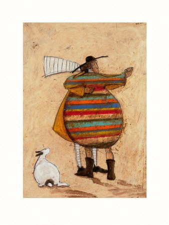 Sam Toft Dancing Cheek to Cheeky Art Print Poster - 30x41 cm