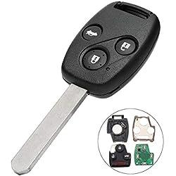 Alamor Fob clé à Distance 433Mhz Id48 de 3 Boutons pour Honda Accord 2003-2005 CRV 2005-2006