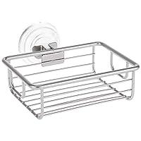 InterDesign Classico Suction Soap Dish Silver