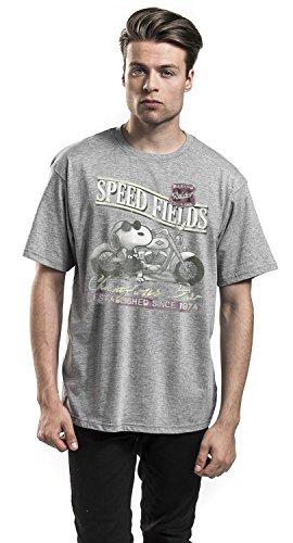 Peanuts Snoopy Speed Fields T-Shirt grau meliert Grau Meliert
