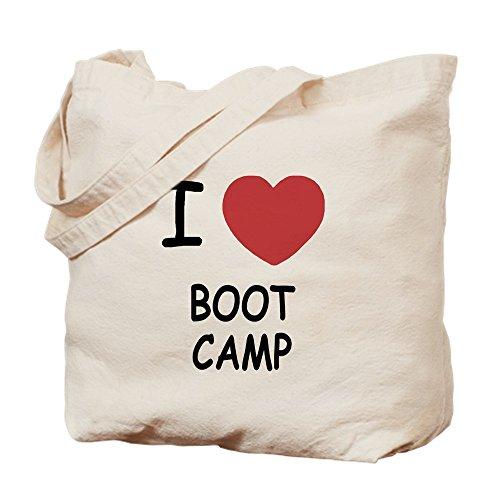 (CafePress–I Heart Boot Camp–Leinwand Natur Tasche, Reinigungstuch Einkaufstasche Tote S khaki)