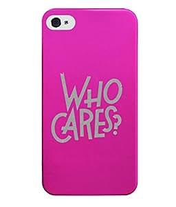 KolorEdge Back Cover For Apple Iphone 4 - Pink (2664-Ke15090IPhone4Pink3D)