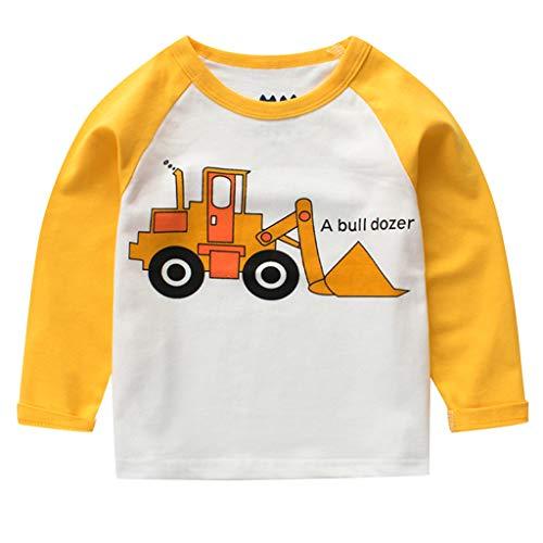 SINGOing Für Jungen Sweatshirts, Sweatshirt mit Print Dinosaurier Babyshirt Langarm Kapuzen Kinder Jungen Hoodie -