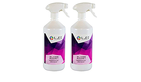 Liquid Elements 2x Gloss Boost Sprühversiegelung Detailer Versiegelung 1 Liter Auto