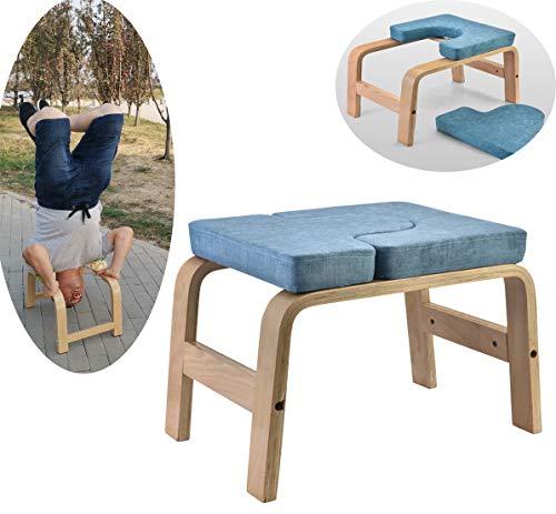 MFDZ Yoga Kopfstandhocker Ergonomische Griffe,Yoga Stuhl abnehmbar Hilfe Trainer Kopfüber, Nachhaltig,Maximale Belastung…