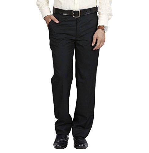MANGAL Men's Cotton Formal Trousers (KCPT0011132_Black_32)
