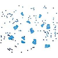 Konfetti Füße Blau Füßchen Tisch Dekoration Geburt Taufe