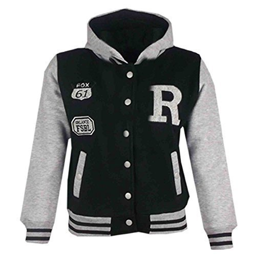 e34f140f2 A2Z 4 Kids® Unisex Kids Girls Boys Baseball R Fashion Hooded Jacket ...