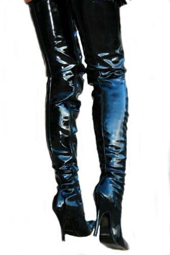 EROGANCE Lack High Heels Crotch Overknee Stiefel A3623L / EU 43 - 4