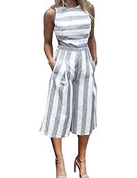 Amazon.es  vestidos blanco playa - Monos   Mujer  Ropa b6bfc3e5fe68