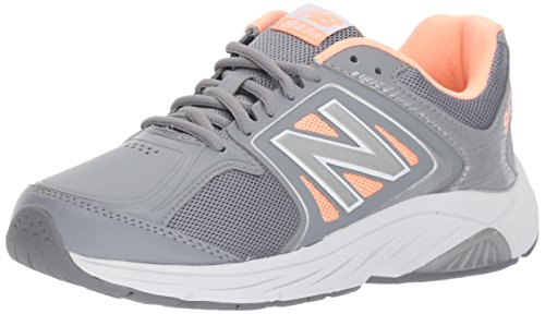 New Balance Frauen Enduring Zweck WW847V3 Walking Schuhe, 41 EUR - Width B, Grey/Pink New Balance Walking-schuhe Damen