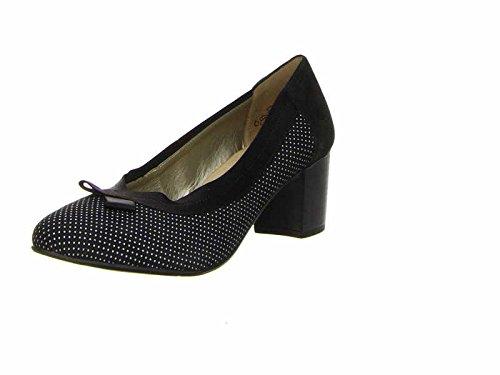 Remonte - Scarpe peep toe Donna , nero (nero/bianco), 42