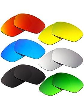 Hkuco Plus Mens Replacement Lenses For Oakley Hijinx Red/Blue/Black/24K Gold/Titanium/Emerald Green Sunglasses