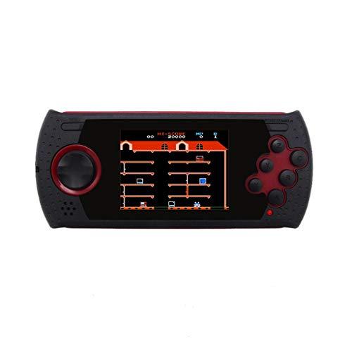 Dkings MD16 Simulator 3,0 Zoll Spielkonsolen 16BT Handheld PVP PXP Spiel Sega Games Tragbarer Handheld HDMI/AV TV-Ausgang,EIN schlanker und kompakter Handheld-Videospielspieler (Red) -