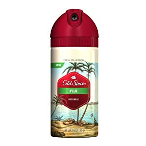 Old Spice Fresh Collection Fiji Scent Men's Body Spray 4 Oz (Pack of 3)