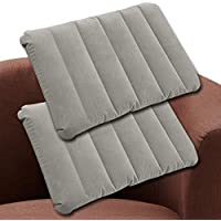 SYCOTEK Back Pillow Travel Pillow Inflatable Back & Seat Cushion 2 Pack, Grey