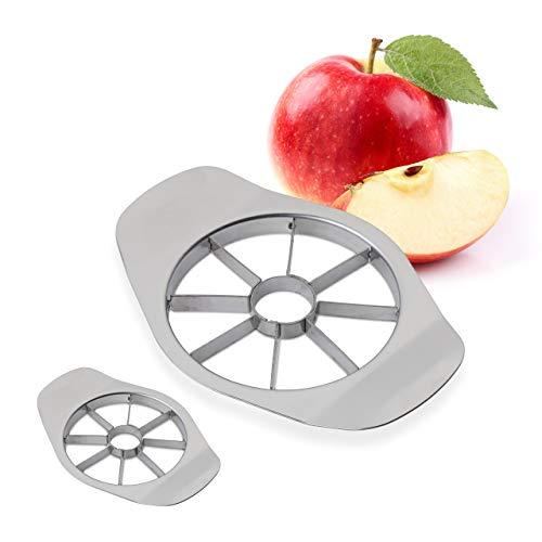 2 x Apfelschneider, teilt in 8 Apfel Spalten, für Äpfel und Birnen, Profi Obstschneider, Edelstahl...