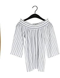 Twist & Tango Damen Bluse Lina Blouse, 10er Pack, Blue (Dark Blue Stripe), 38