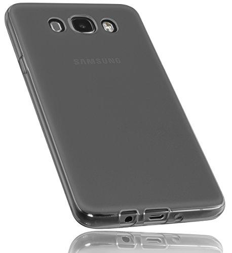 mumbi Schutzhülle für Samsung Galaxy J7 (2016) Hülle transparent schwarz