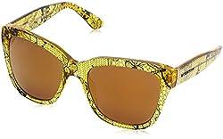 D&G Dolce & Gabbana Womens 0DG4226 Square Sunglasses, Chantilly Lace,TR Lemon, 54 mm