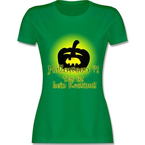 Halloween - Kein Halloweenkostüm - tailliertes Premium T-Shirt mit Rundhalsausschnitt für Damen Grün