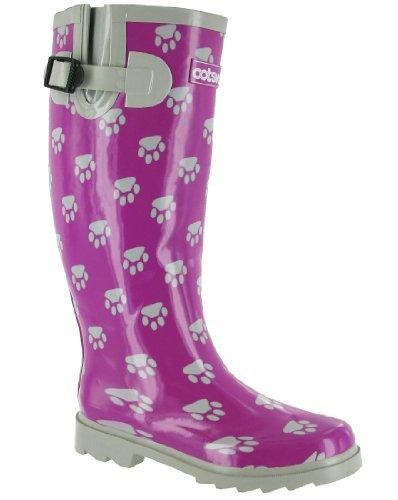 Cotswold Damen Hundepfote Gummistiefel - EU / UK violett