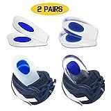 2 Pairs of Gel Heel Cups Heel Support Pads Cushions for Plantar Fasciitis Heel Pain