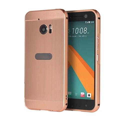 Preisvergleich Produktbild For HTC 10 Hülle , Ouneed Mode aus gebürstetem Metall Aluminium Hard Case Cover für HTC 10 M10 (Roségold)