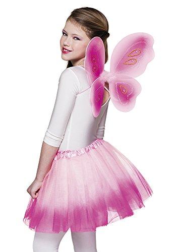 Zauberclown - Fee Flügel Schmetterling Kostüm Set mit Tütü, (Frauen Für Verkleidung Fee Tutu Mit)
