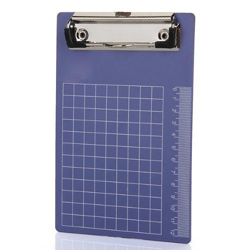 A6 File Clip bordo - SODIAL(R) Pad Holder cartella clip di plastica Appunti Blu Porpora per la carta