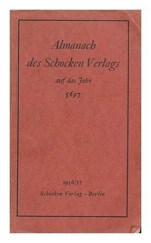 Almanach des Schocken Verlags auf das Jahr 5697