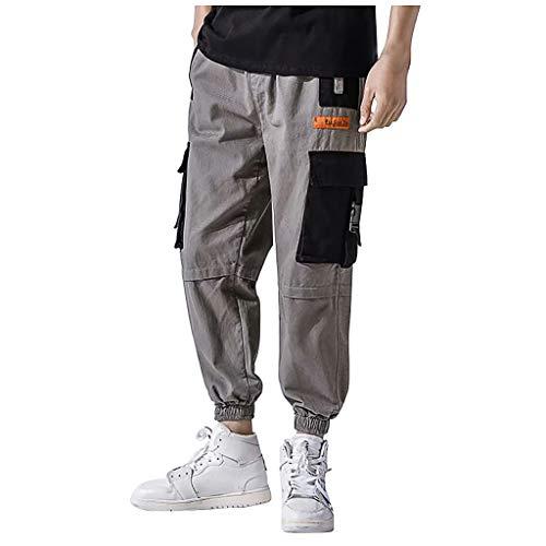 Herren Relaxed Hose Cargo Pants Vintage Airborne Trousers Herren Cargo Hose Multi-Pocket Freizeithosen - Denim-zwei-pocket-shorts