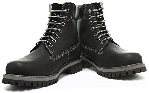 Grinders Brixton Homme Bottes Black Oil Distress