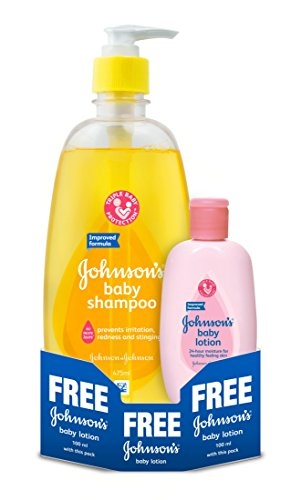 Johnson's Baby Shampoo (475ml) with Free Baby Lotion (100ml)