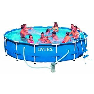 AK Sports 775227 305 x 76 cm Intex Metal Frame Pool - Blue