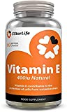 5StarLife Vitamin E 400iu, 60 Natural Softgels, Daily Vitamin E Capsules, 2 Months Supply, Made in The UK