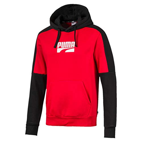 Puma Herren Rebel Block FL Pullover, High Risk Red, XXL -