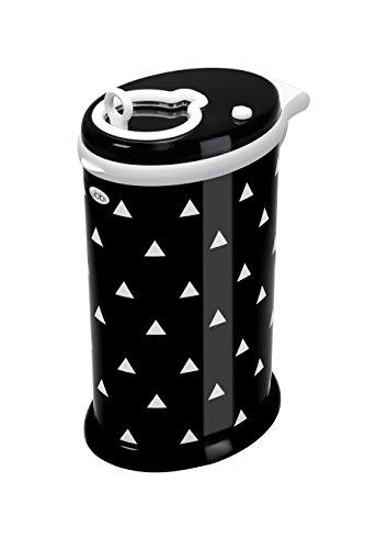 Ubbi pañal de acero cubo/cubo de pañales, Negro Triángulos