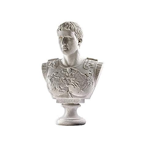 Design Toscano Buste sculptural grande échelle César Auguste de Prima Porta