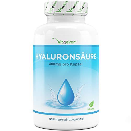 Glucosamin Creme Für Den Körper (Vit4ever® Hyaluronsäure 400 mg - 120 Kapseln - Molekülgröße 500-700 kDa - Laborgeprüft - Hyaluron aus Fermentation - Vegan - Hylaronsäure - Gelenke, Haut & Anti-Aging)