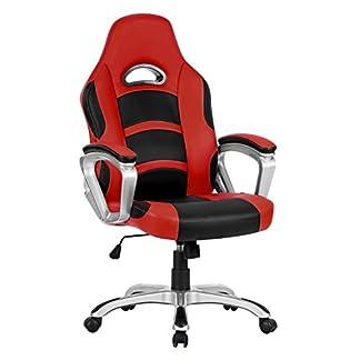 41dnw1SwgwL. SS324  - Langria Racing de espalda alta silla de ordenador Gaming oficina ejecutiva de piel sintética