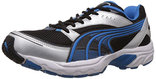 Puma Men's Axis III Ind. Black, Silver and Blue Aster Running Shoes - 7 UK/India (40.5 EU)  available at amazon for Rs.1571