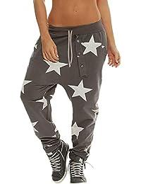 étoile imprimée Gym Pantalon Yoga Sport Femme ado Fille Legging Taille  Haute Jogging Cargo Slim Fitness a88d3fa56a4
