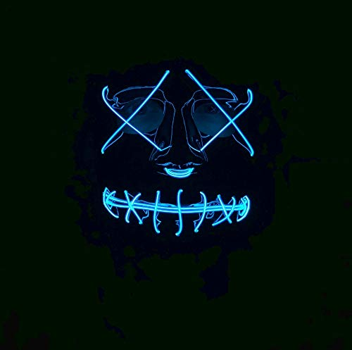 Unbekannt Neon Light Up Mask- Blue Secure Yours Now! (Light Kostüm-ideen Up)