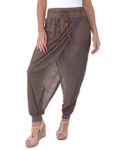 KRISP 4866-MOC-M, Pantalones Originales Moda Juvenil, Moca, M