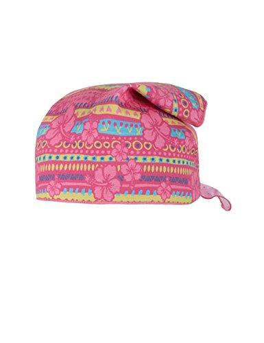 maximo Wendekopftuch - Bonnet - Fille Multicolore - Mehrfarbig (pink-hawai girl/mandelblüte-Punkte 403)