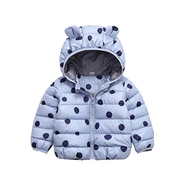 YWLINK Chaqueta con Capucha 2-7 AñOs De Edad, Invierno Ropa De AlgodóN CáLido NiñA Bebé Abrigo De Oso con Estampado De… 2